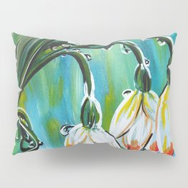 Drips on droopy flowers Pillow Sham
