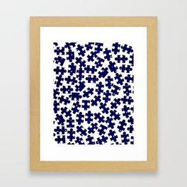 Random Jigsaw Pieces Framed Art Print