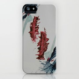 Grabado banderas rojas iPhone Case