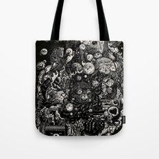 Spark-Eyed Oblivion Cascade Blues Tote Bag