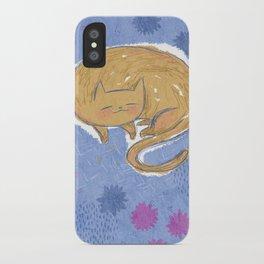 Sleepy Kitty Dreams iPhone Case