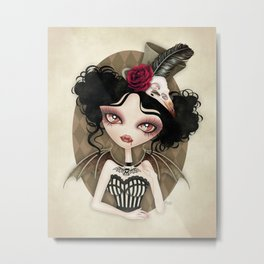 Countess Nocturne Vampire Metal Print