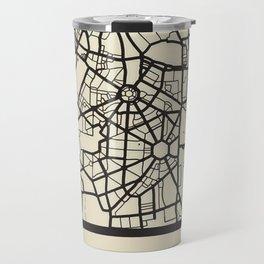 Abstract City Map - New Delhi, India Travel Mug