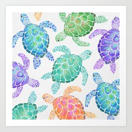 Sea Turtle - Colour Kunstdrucke