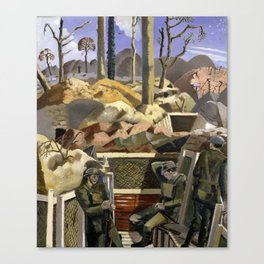 Spring in the Trenches, Ridge Wood 1917 by Paul Nash (1917) Imperial War Canvas Print