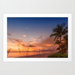 BONITA BEACH Romantic Sunset Art Print
