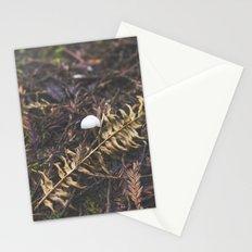 White Mushroom on Forest Floor Stationery Cards