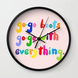 Go-go A Go-go Wall Clock