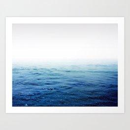 Calm Blue Ocean Art Print