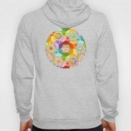 Circus Rainbow Hexagons Hoody