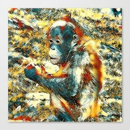 AnimalArt_OrangUtan_20170906_by_JAMColors Canvas Print