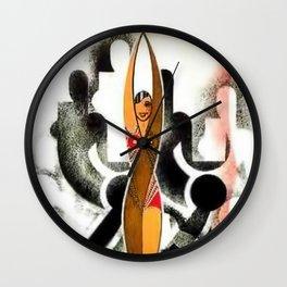 Jazz Age Josephine Baker Art Deco Portrait Painting Wall Clock
