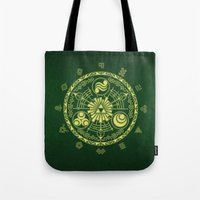 triforce Tote Bags featuring Zelda Triforce  by DavinciArt