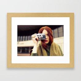 Red hair photographer Framed Art Print