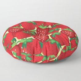 Strawberry Floor Pillow