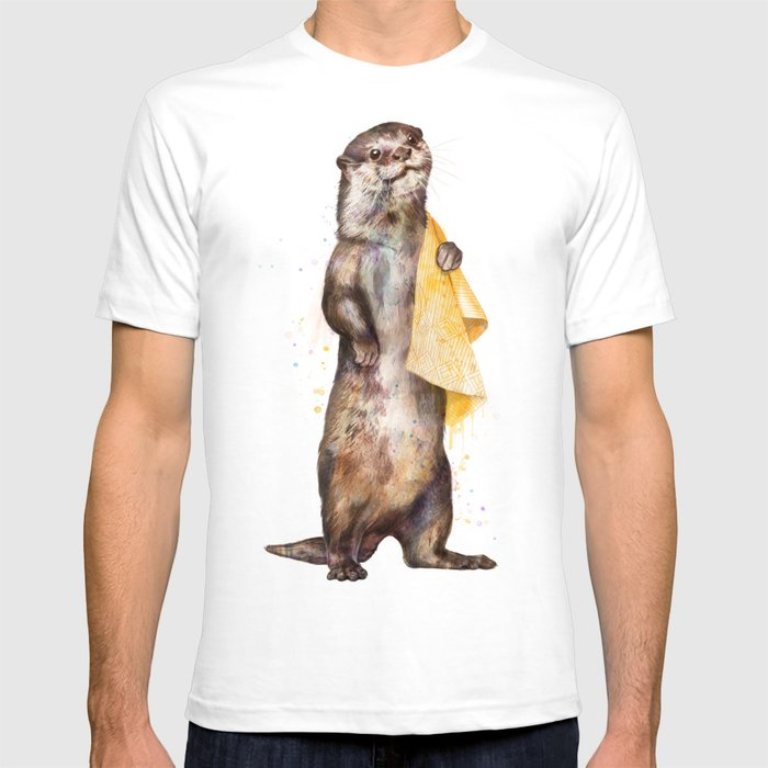 935c1ca08 otter T-shirt by lauragraves | Society6