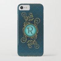 monogram iPhone & iPod Cases featuring Monogram R by Britta Glodde