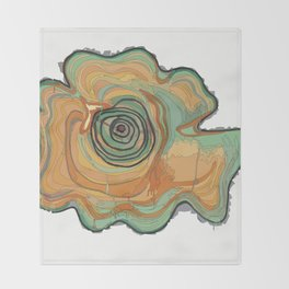 Tree Stump Series 3 - Illustration Throw Blanket