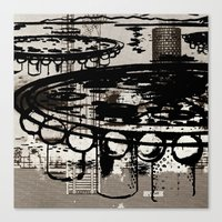 architect Canvas Prints featuring Architect Invader by Paul Prinzip