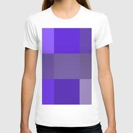 Purple fantasy grid T-shirt