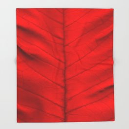 Poinsettia's leaf Throw Blanket