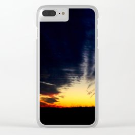 Sunset 3 Clear iPhone Case