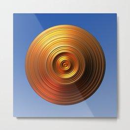 Golden Disc - for Circle Week Metal Print