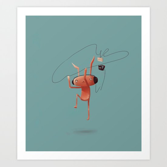 Rabbit Listening Art Print