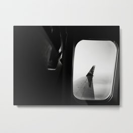 Airplane Window Over the Atlantic Metal Print