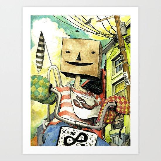 pseudo-hero Art Print