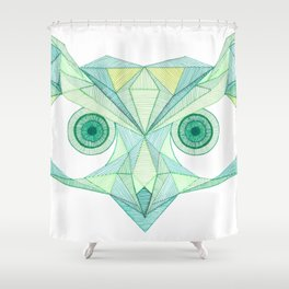 Angry Owl Shower Curtain
