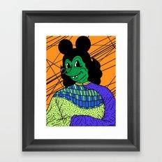 THE GREEN LADY. Framed Art Print