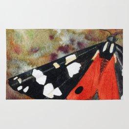 Scarlet Tiger Moth Rug