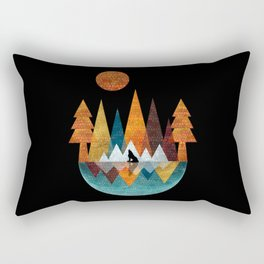 The Night Of The Wolf Rectangular Pillow
