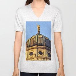 French Cathedrale - Gendarmenmarkt - Berlin Unisex V-Neck