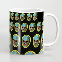 mask Mugs featuring mask by mark ashkenazi