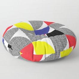 Textured Mid-century Circles No.1 Floor Pillow