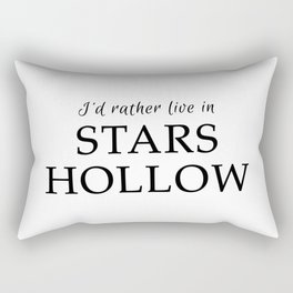 I'd Rather Live in Stars Hollow Rectangular Pillow
