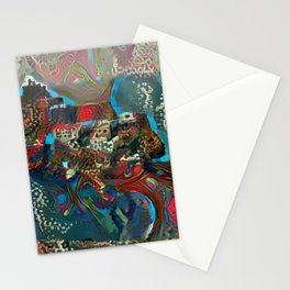 Castle by the African Sea Stationery Cards