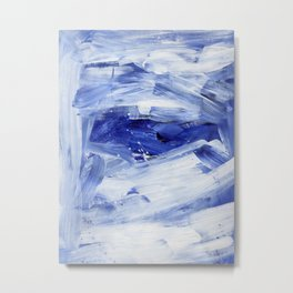Blue Ocean Torrent Colorful Abstract Painting by Ejaaz Haniff Metal Print