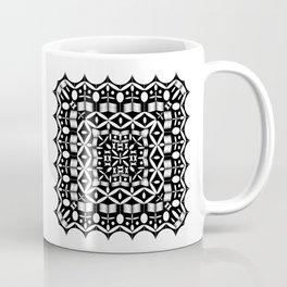 Mandala Square Black & White Coffee Mug