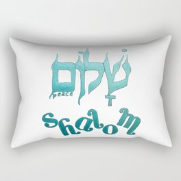 SHALOM The Hebrew word for Peace! Rectangular Pillow