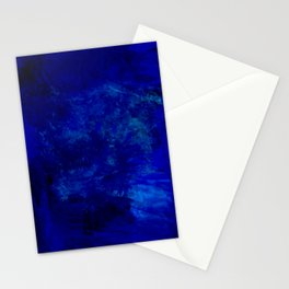 Blue Night- Abstract digital Art Stationery Cards
