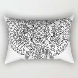 The Elephant Mask Rectangular Pillow
