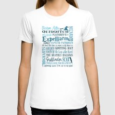 Harry Potter - All Quotes  Womens Fitted Tee MEDIUM White