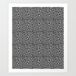 Symetric triangle 4 -vichy, gingham,strip,triangle,geometric, sober,tartan,mandala Art Print