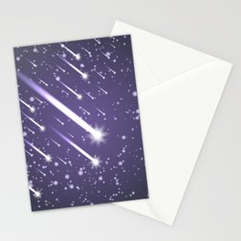 Flying meteors. Ultra violet. Stationery Cards