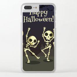 Dancing Halloween Clear iPhone Case