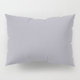 Pantone Lilac Gray Multi Striped Tiny Scallop Wave Pattern Pillow Sham