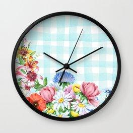 Fabulous Flowers Wall Clock